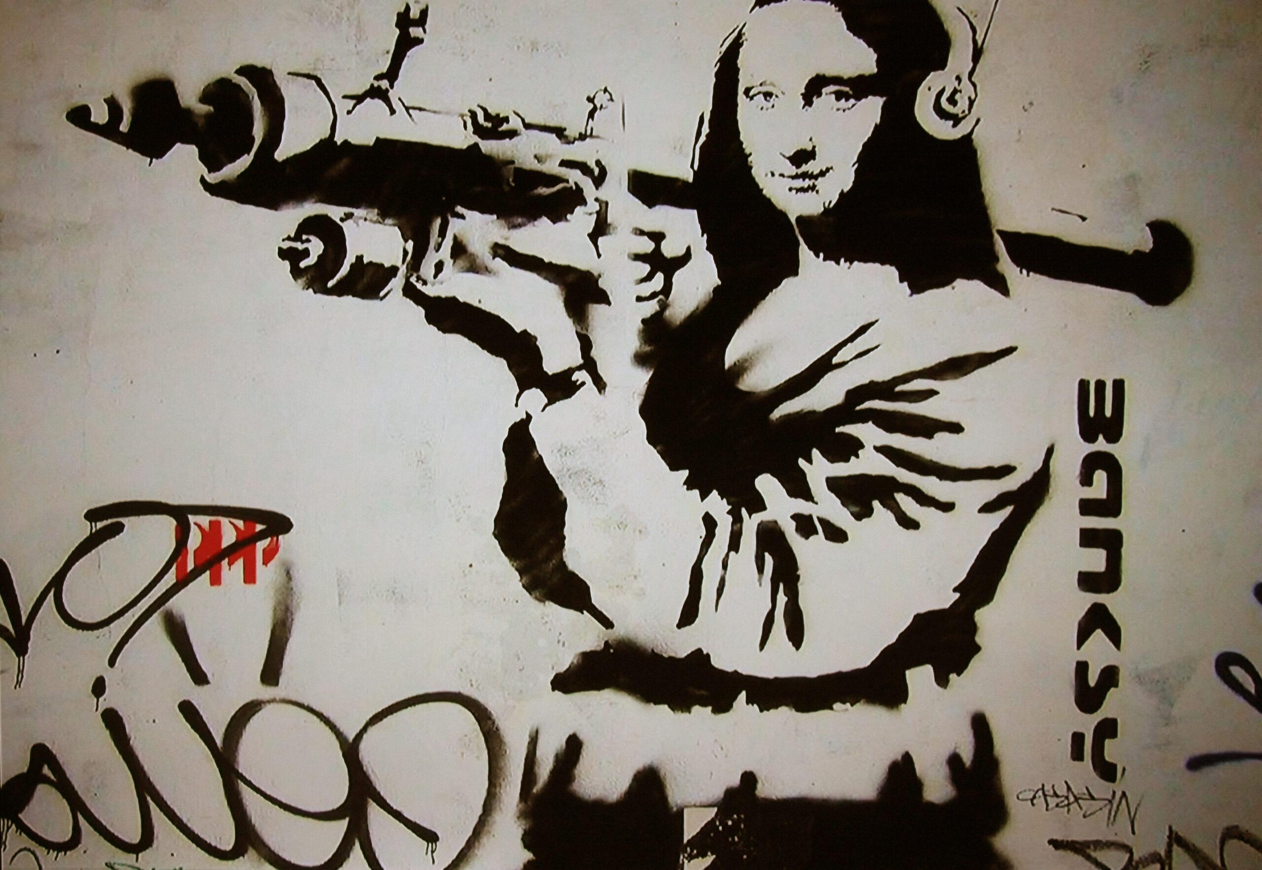 Bansky-Leonardo-da-vinci-street-art-magazinehorse