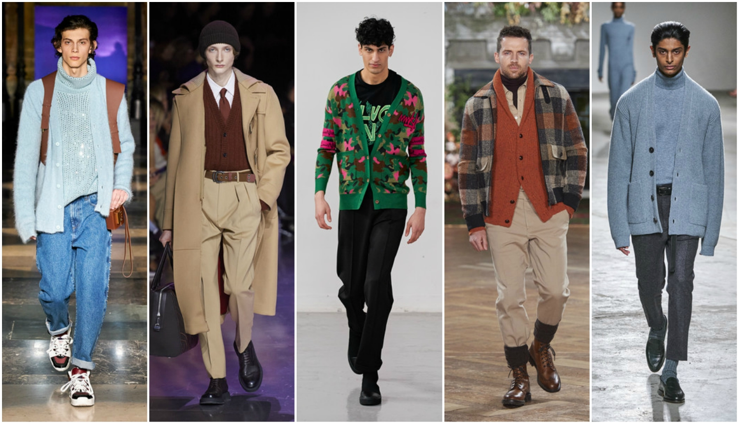 Men's autumn winter trends 2020/21 cardigans