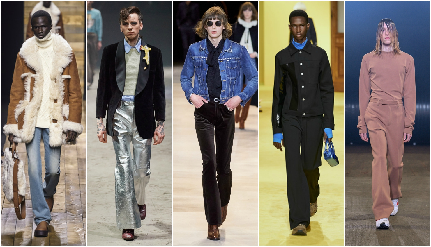 Men's trends fall winter 2020/21 flared trousers