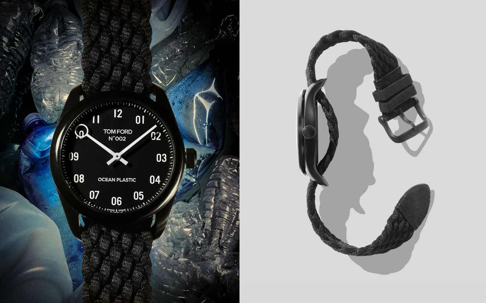 Watches with recycled materials and with a strong commitment to the environment.