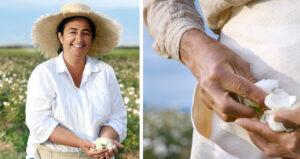 Woman-encourage-lancome-rosas-blancas-magazine-horse