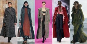 Abrigo largo tendencias otoño 2021